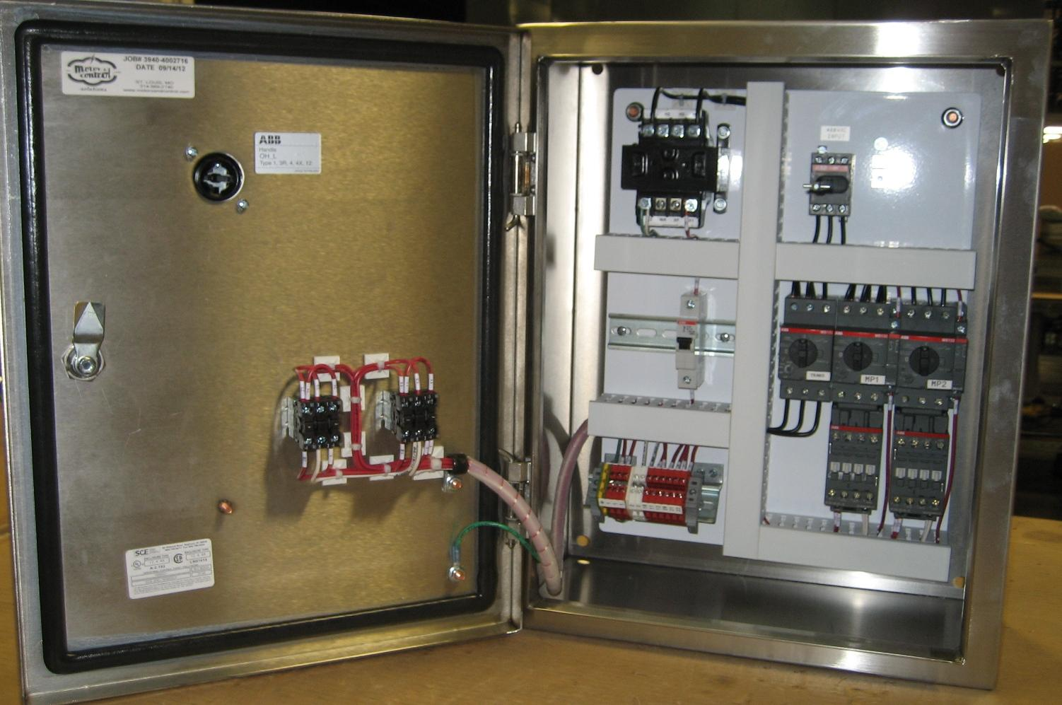 Custom Pump Control Panel Experts State Motor Amp Control