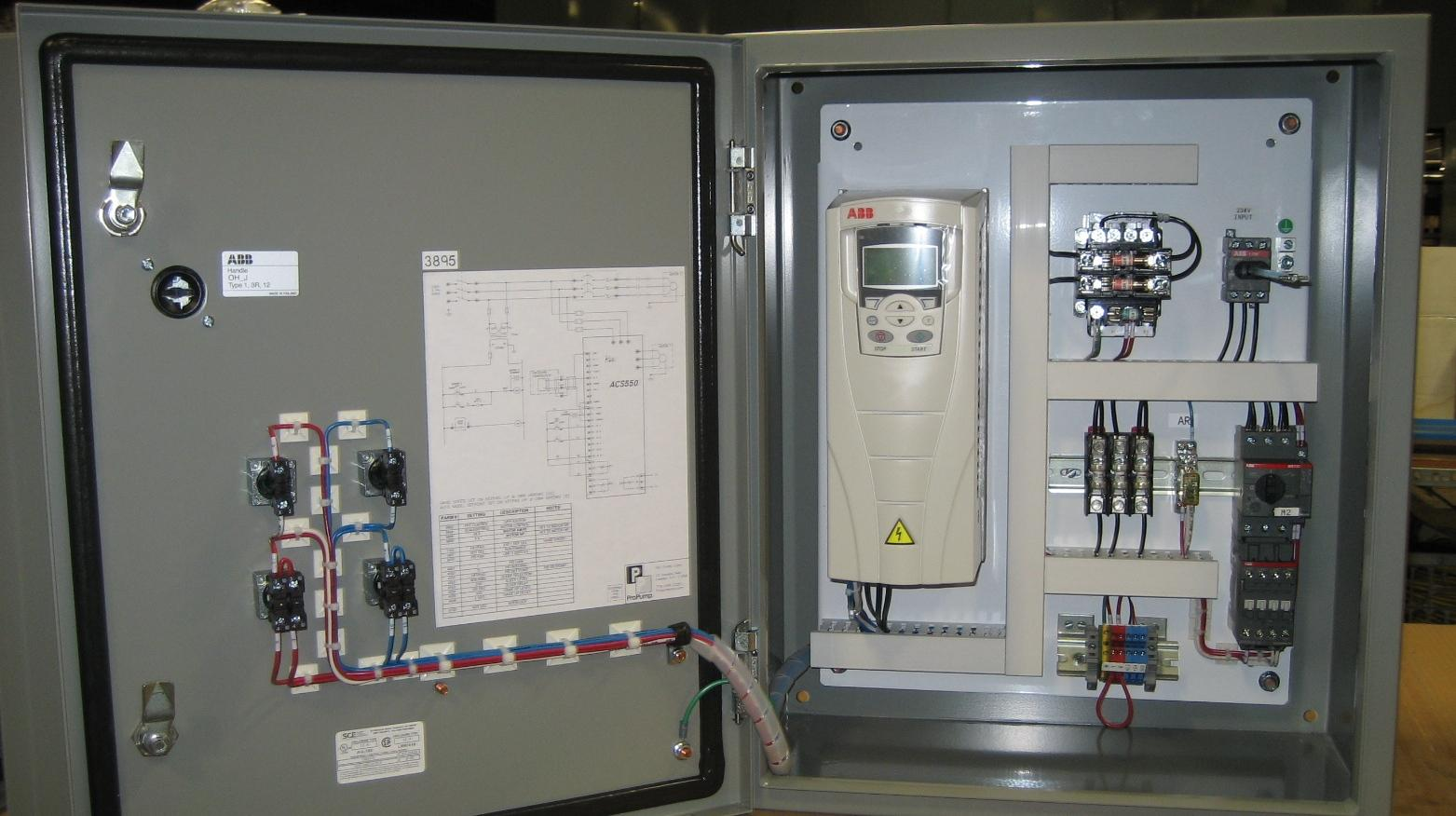 Duplex Pump Panel with VFD