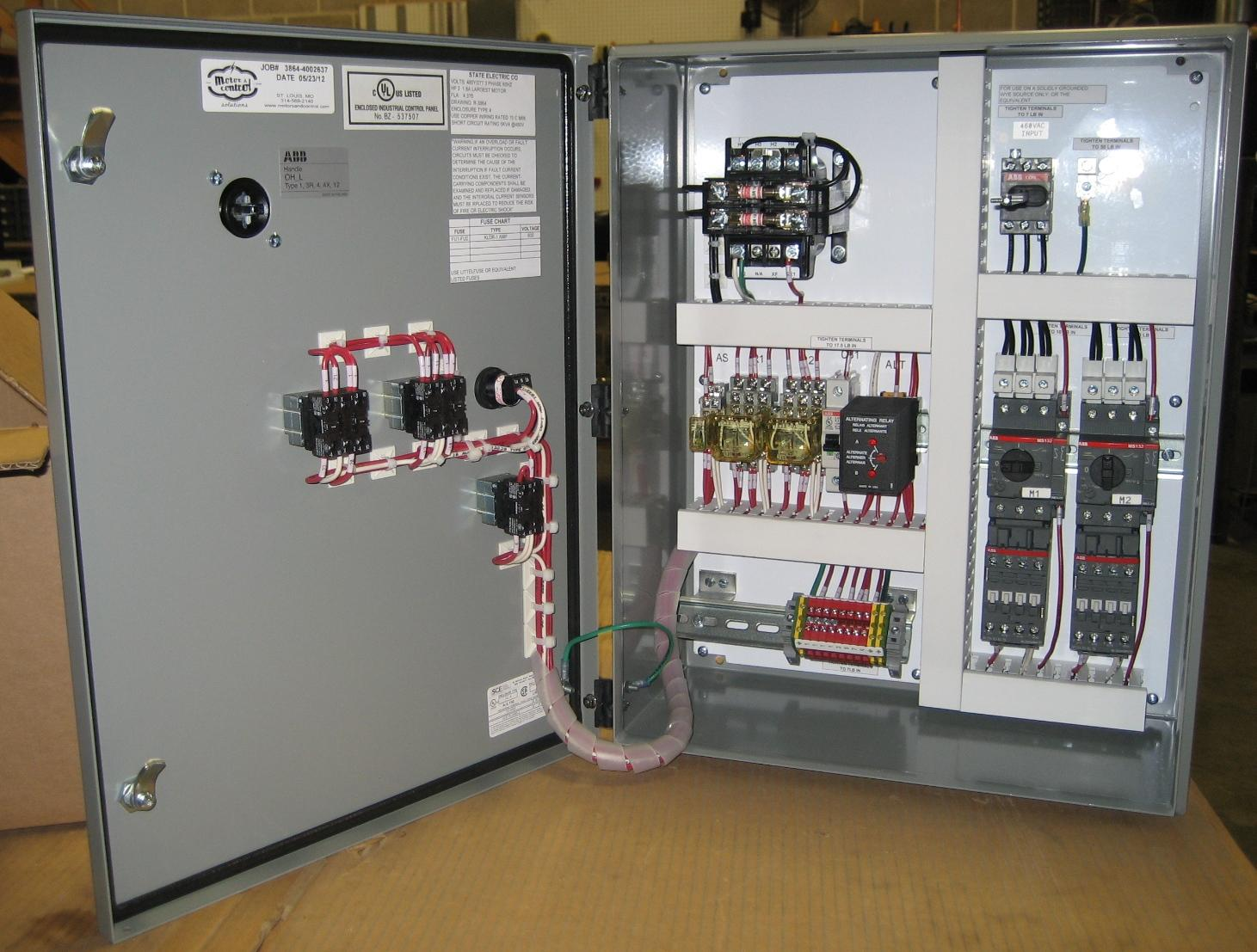 Custom Pump Control Panel Experts State Motor Amp Control